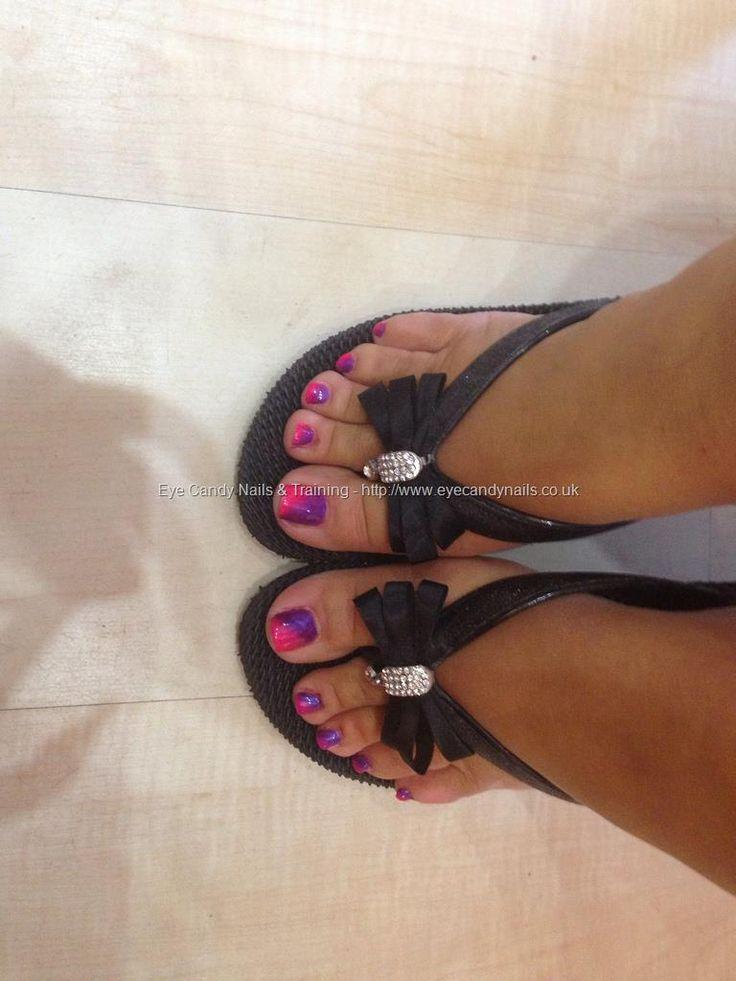 Pink n purple gelish gel polish on toes Taken at:7/26/2013 8:39:32 PM
