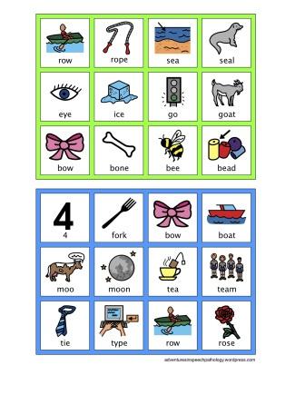 FCD Bingo Board - Minimal Pairs