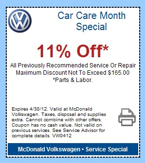 Falcone vw service coupons
