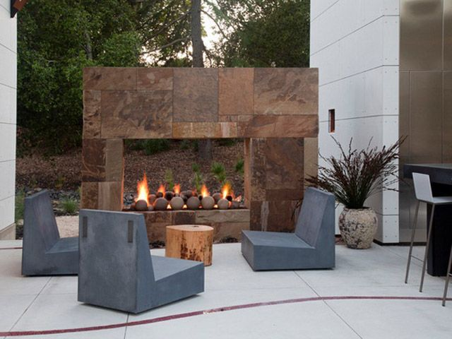 Outdoor Fireplace Outdoor Living Spaces Pinterest