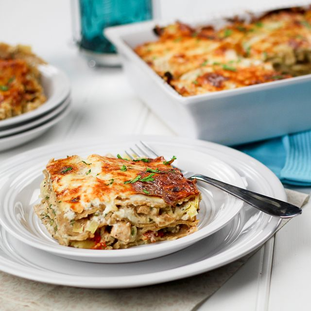 Cheesy Chicken and Artichoke Lasagna. --~>All in all, this was a VERY ...