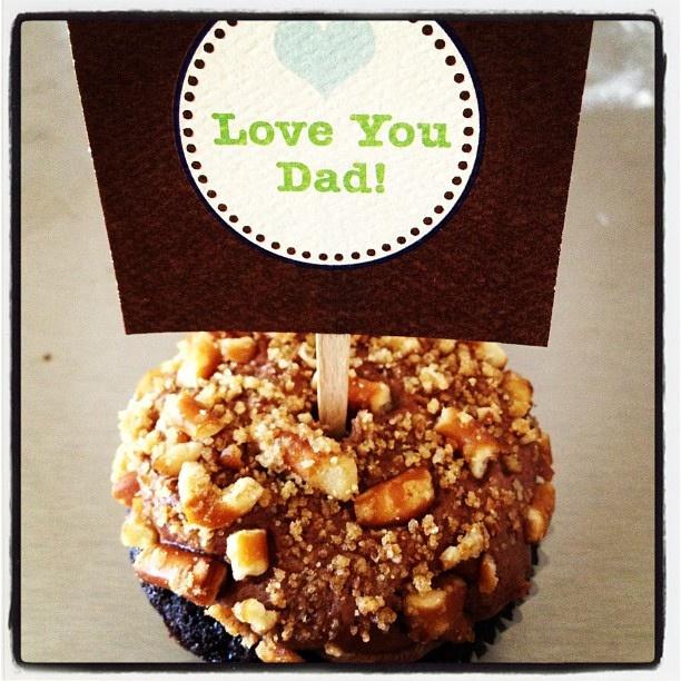 Chocolate stout cupcake with choc stout butter cream & pretzel crunch.