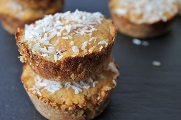 Paleo Double Coconut Muffins ¼ c. unsweetened, shredded coconut ½ c ...
