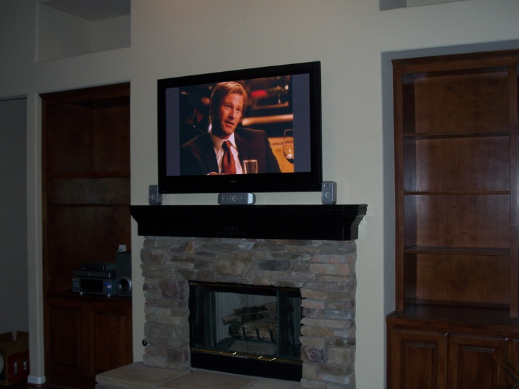 Tvs Above Fireplaces Home Design Idea