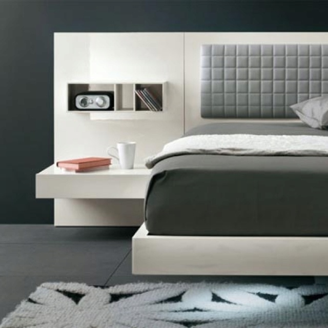 Headboard with floating end tables for the home pinterest for Floating side table diy