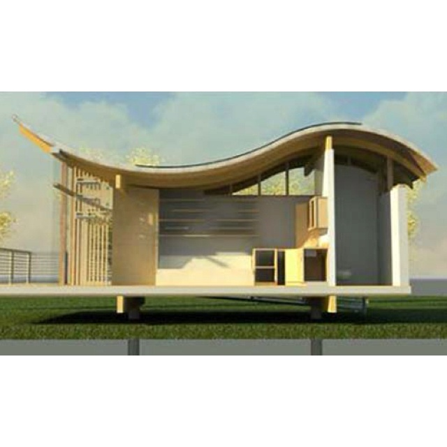 Curved roof lysthus pinterest for Curved roof house designs