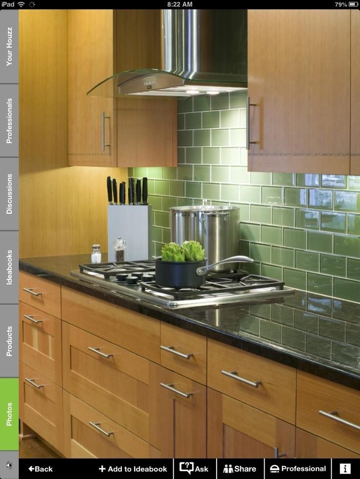 gallery for gt kitchen backsplash glass tile green