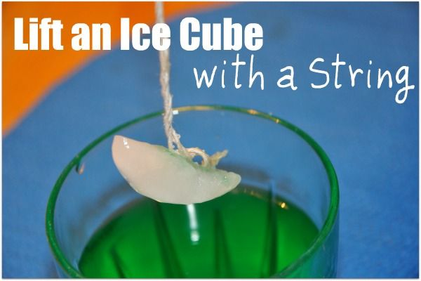 Fun and simple science experiment using water, salt, ice and a string.