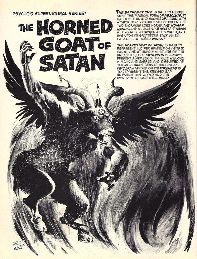 Horned Goat Of Satan | Creepy | Pinterest