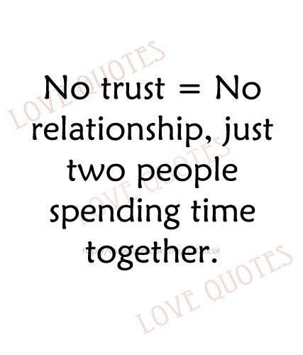 having no trust relationship