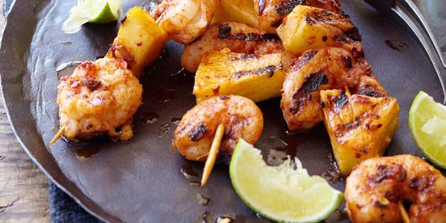 inspired skewers are incredibly simple and tasty. Tossing shrimp ...