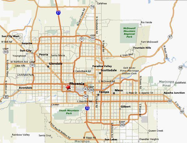 Phoenix Area Map  Layout  Pinterest