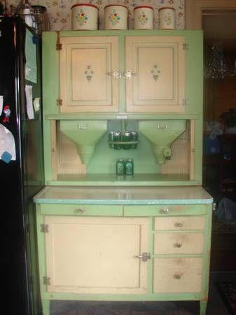 antique Hoosier Baking Cabinet Kitchy Kitchens Pinterest