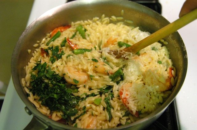 Orzo Risotto with Buttery Shrimp - Test Recipes - Cooking For ...