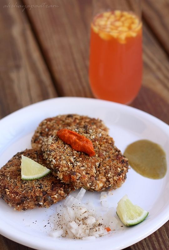 VEGETARIAN Lentil & Veggie Burger. http://www.akshayapaatram.com/2011 ...