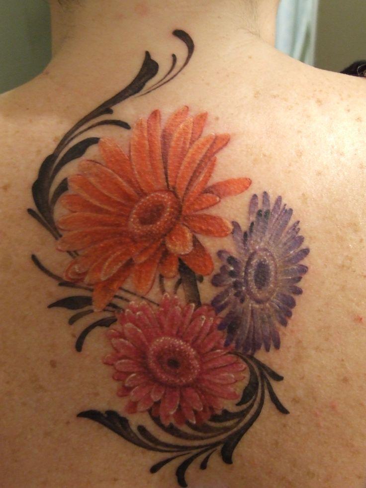 my new gerbera daisy tattoo tattoo ideas pinterest. Black Bedroom Furniture Sets. Home Design Ideas
