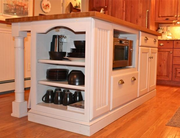 kitchen island with microwave home dec pinterest