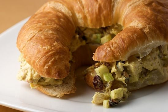 curried turkey salad on croissant | reciplease! | Pinterest