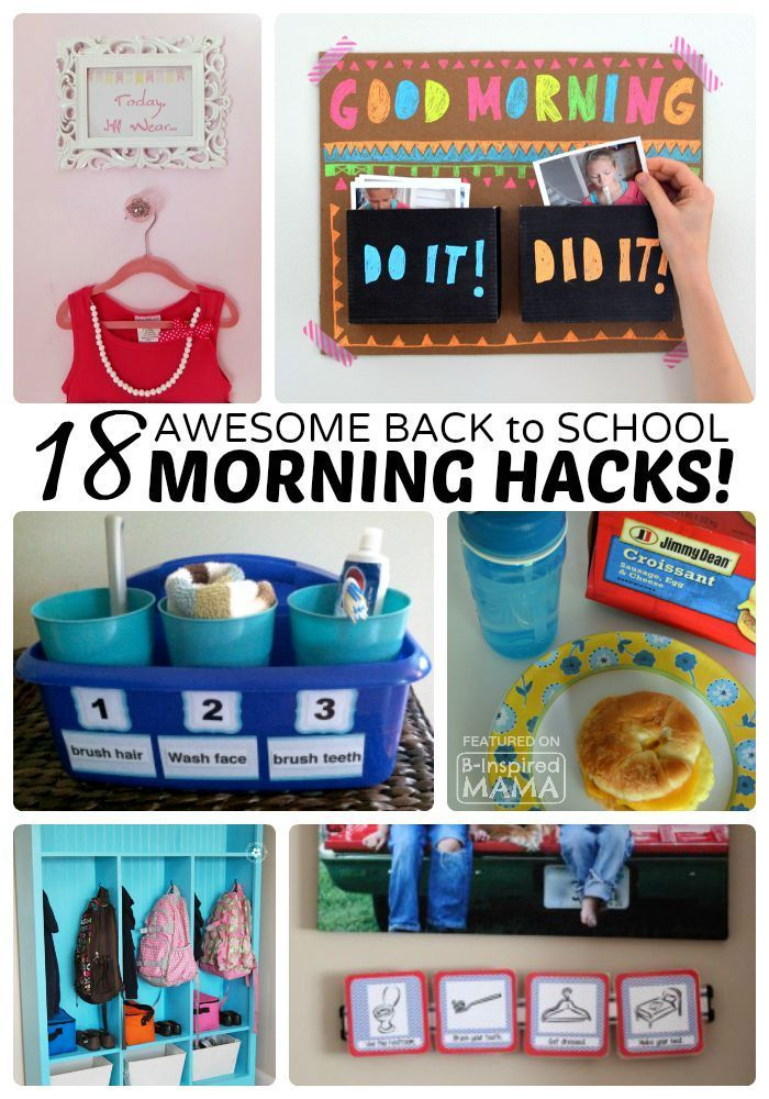 18 Back to School Morning Routine Hacks that will get you and your kids out the door on time in the mornings!