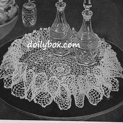 Free Vintage Irish Crochet Patterns : Free Crochet Irish Ruffle doily Pattern Doiley Pinterest
