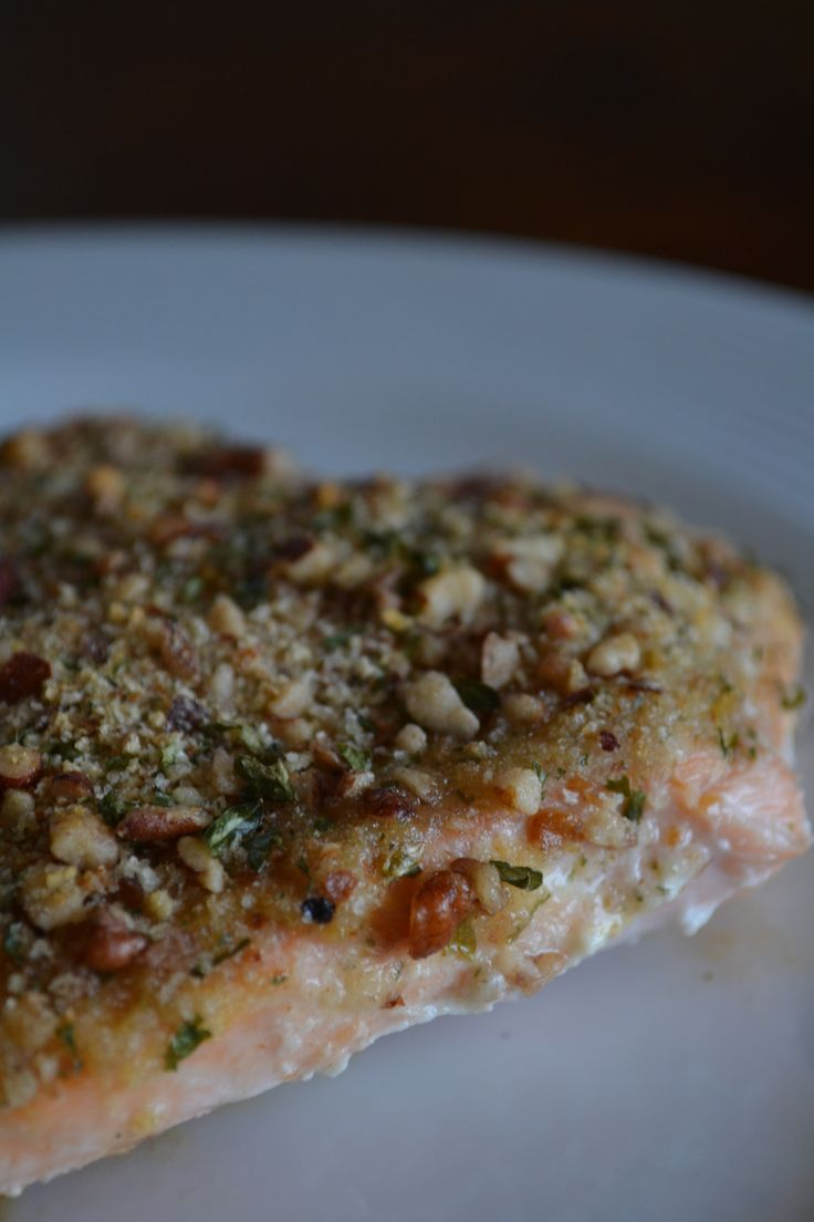 Pecan Crusted Salmon | Eating Clean | Pinterest
