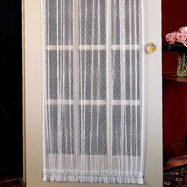 Lace Door Curtain Panel | Arts and Crafts | Pinterest