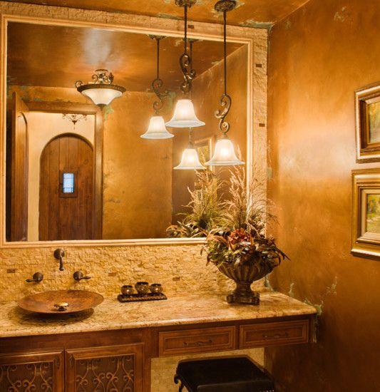 Copper color in bathrooms bathrooms pinterest for Copper bathroom ideas