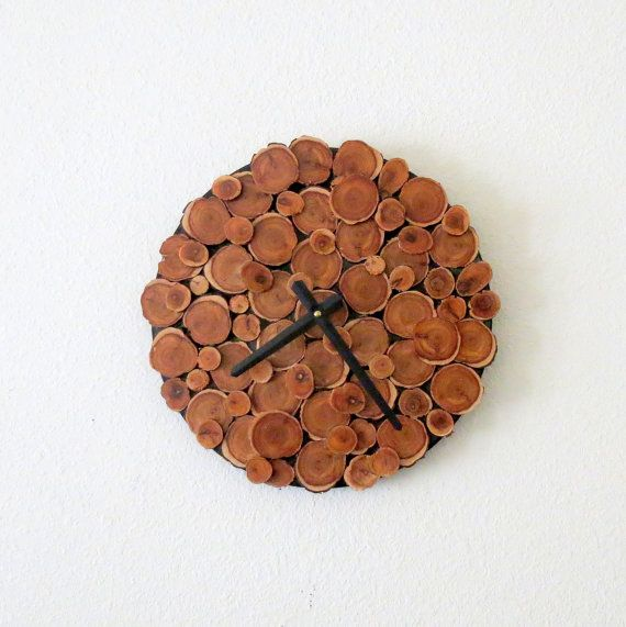 Wood Wall Clock, Decor and Housewares, Cedar Wall Clock, Reclaimed Wood, Home and Living, Home Decor, Rustic Home Decor, Homespunsociety