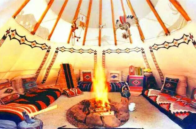 tipi interior traditional native american items pinterest. Black Bedroom Furniture Sets. Home Design Ideas