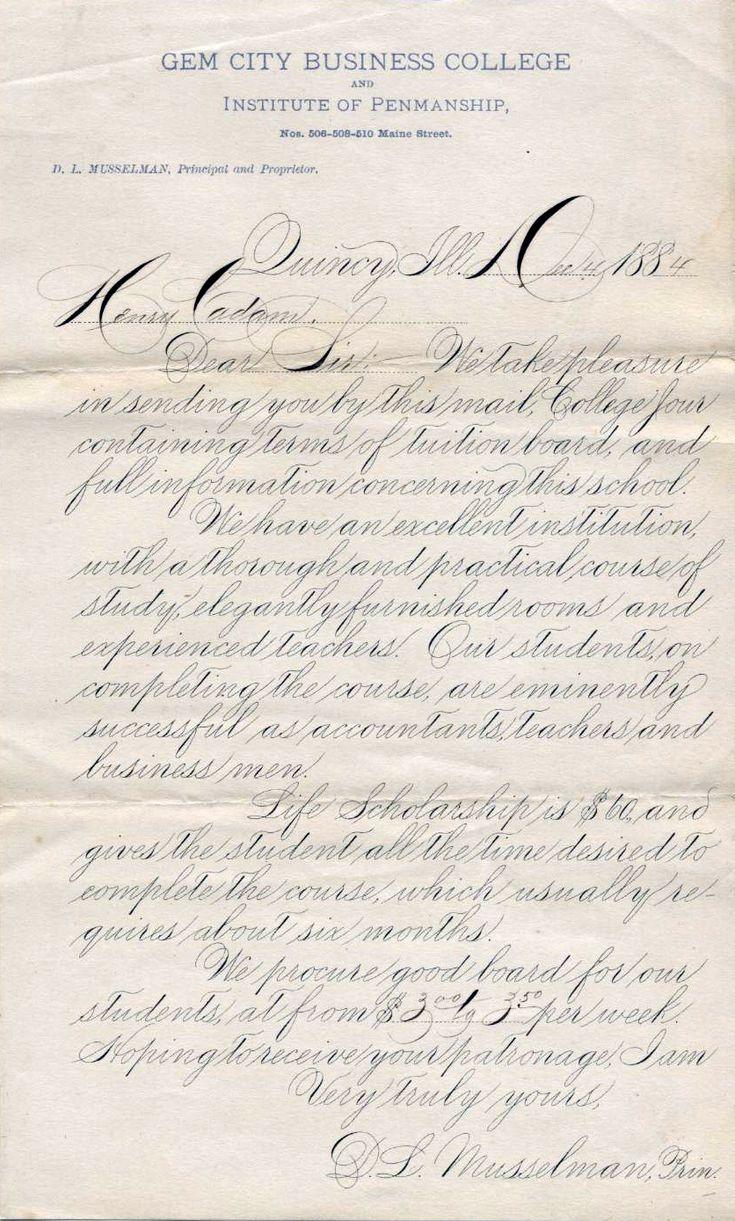 Spencerian Script Calligraphy Pinterest