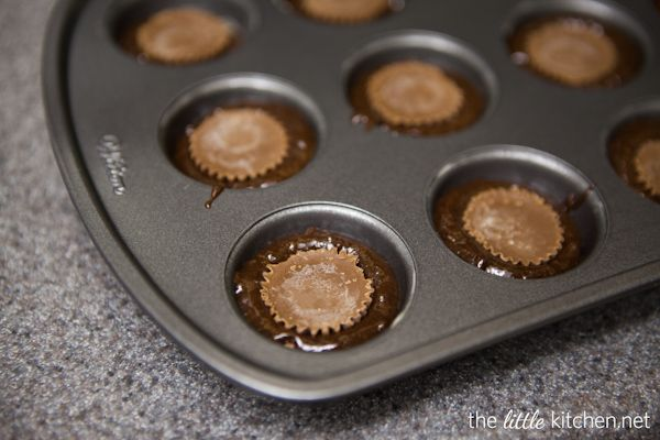 Candy Stuffed Brownie Bites from The Little Kitchen