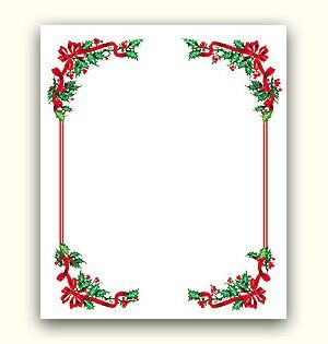 Winter holiday borders for word documents