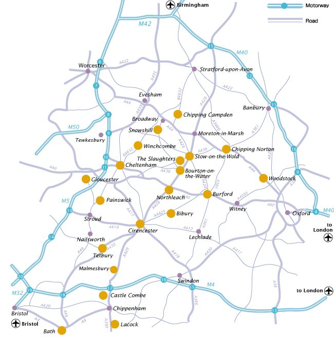 Cotswolds Map The Cotswolds Pinterest