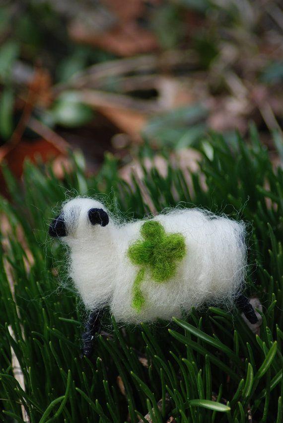 Lucky You Lucky Ewe St Patrick's Day Sheep by BondurantMountainArt, $5.50