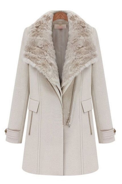 More collars warm wind long wool coat: love it