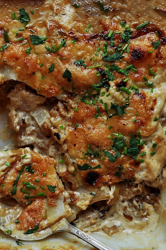 Onion Potato Gratin Recipe — Dishmaps