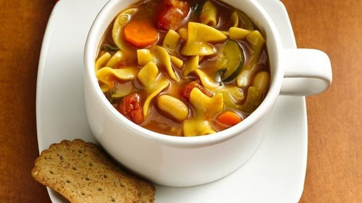 Chock-full of bright vegetables, pasta, and beans, this homemade soup ...
