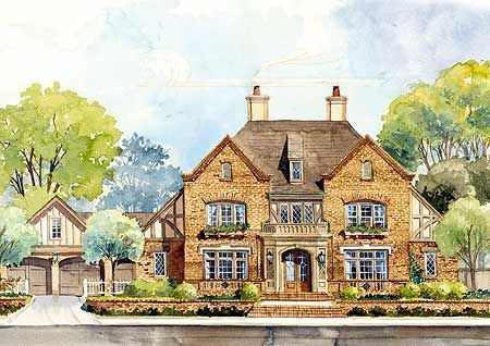 Classic english country home plan for English country home designs