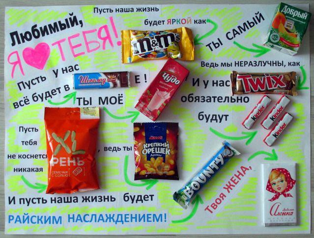 Плакат со сладостями  как делать 60