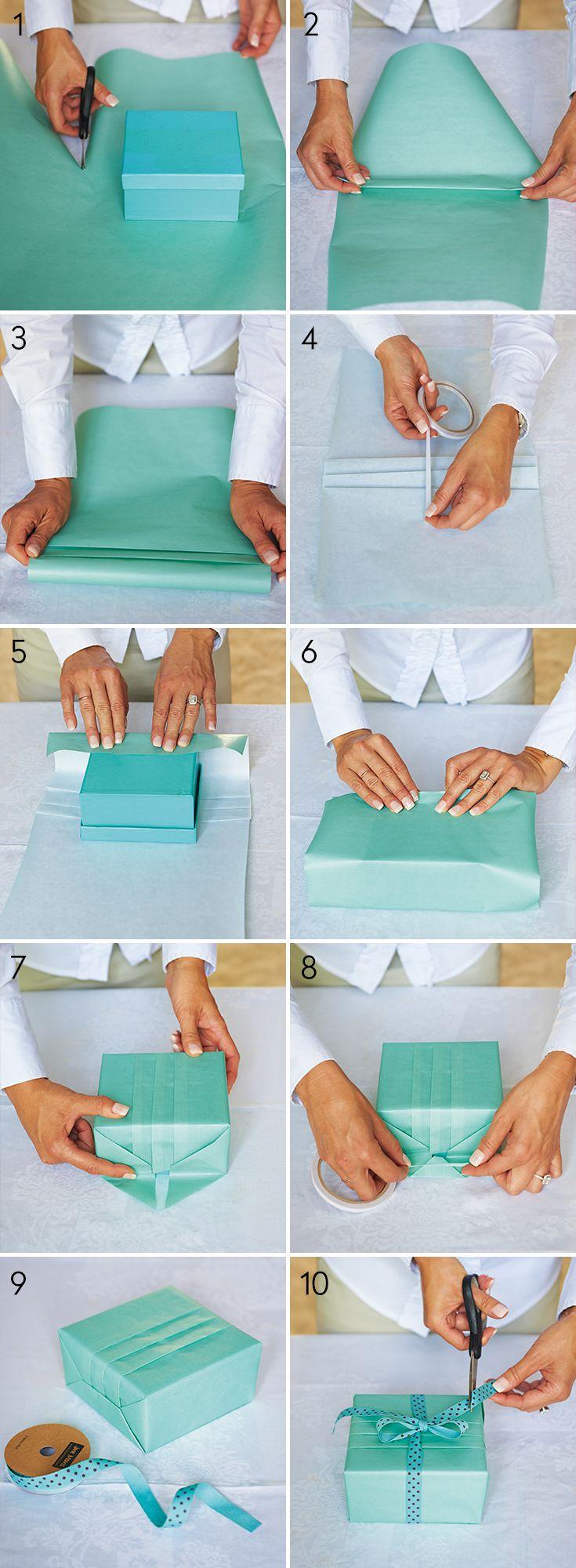 Как правильно завернуть в бумагу подарок 78