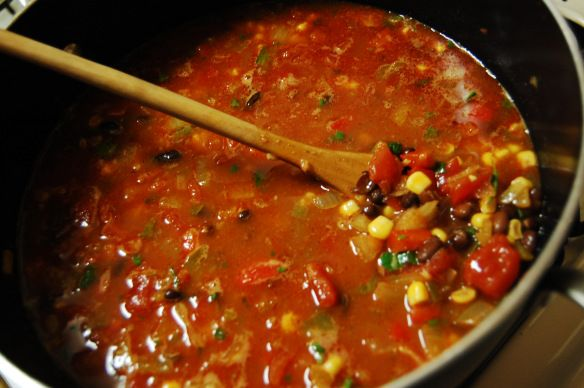 Vegetarian Tortilla Soup | Mmm...FOOD | Pinterest