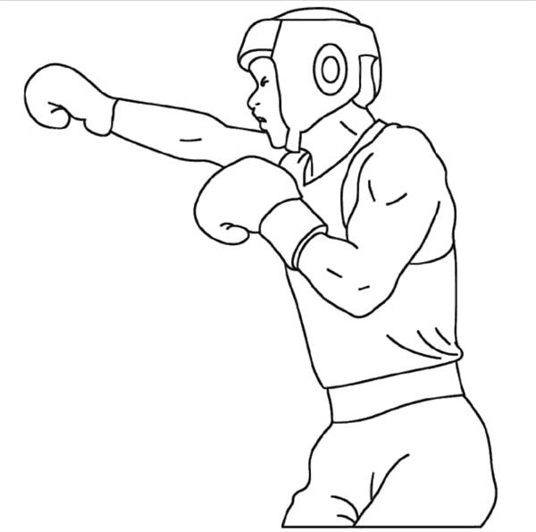 Раскраска боксера