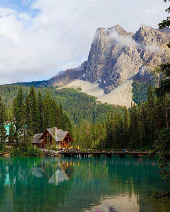 #Emerald Lake, near Field, #BC - and yes, it is that color