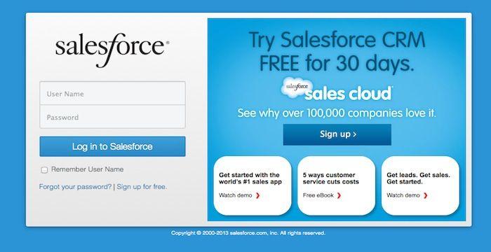 Salesforce Com Login