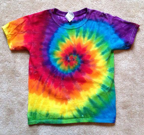 rainbow spiral tie dye for