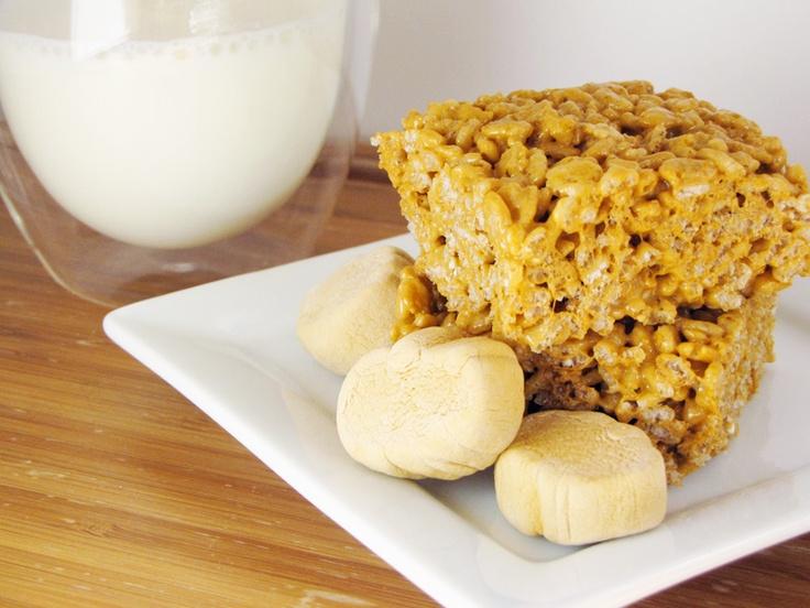 pumpkin spice rice krispies treats | Recipes | Pinterest