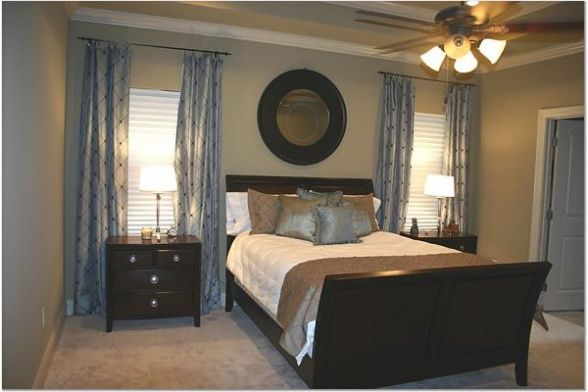 Pretty blue and brown master bedroom home decor ideas for Blue brown bedroom ideas