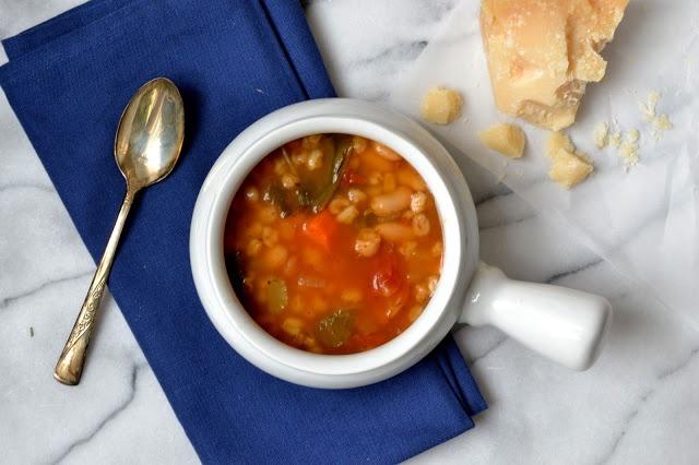 Vegetable & Farro Soup | Cook up a storm | Pinterest