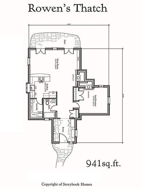 Tiny storybook cottage floor plans pinterest for Storybook cottage plans