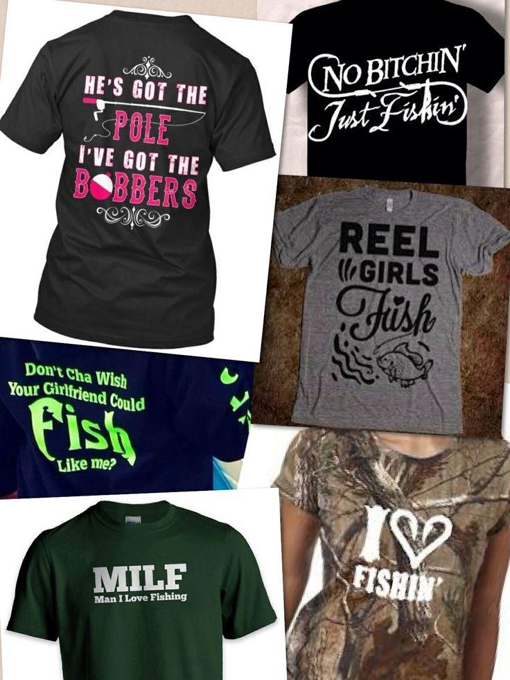 Fun female fishing t shirts fishing shirt ideas pinterest for Women s fishing t shirts